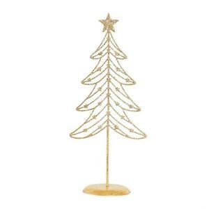 Weihnachtsbaum-Dekoration-Gold-Glitzer-Draht-Metall-Dekor-Haus-suess-funkelnd