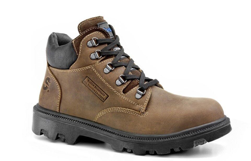 SECOR Sherpa BRANCA Waxy PAC Marrone Punta In Acciaio PAC Waxy Midcut Caviglia Vestibilità Ampia Stivali di sicurezza e5171c