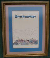 Framed 1970's Breckenridge Colorado USA Ski Poster by Artist Gene Hoffman