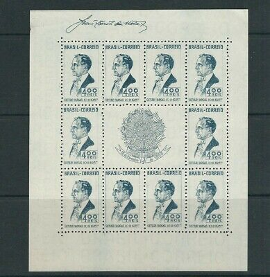 Brazil 1938 Vargas Souvenir Blatt (scott 466) Ungummiert Wie Herausgegeben Vf Dauerhafter Service