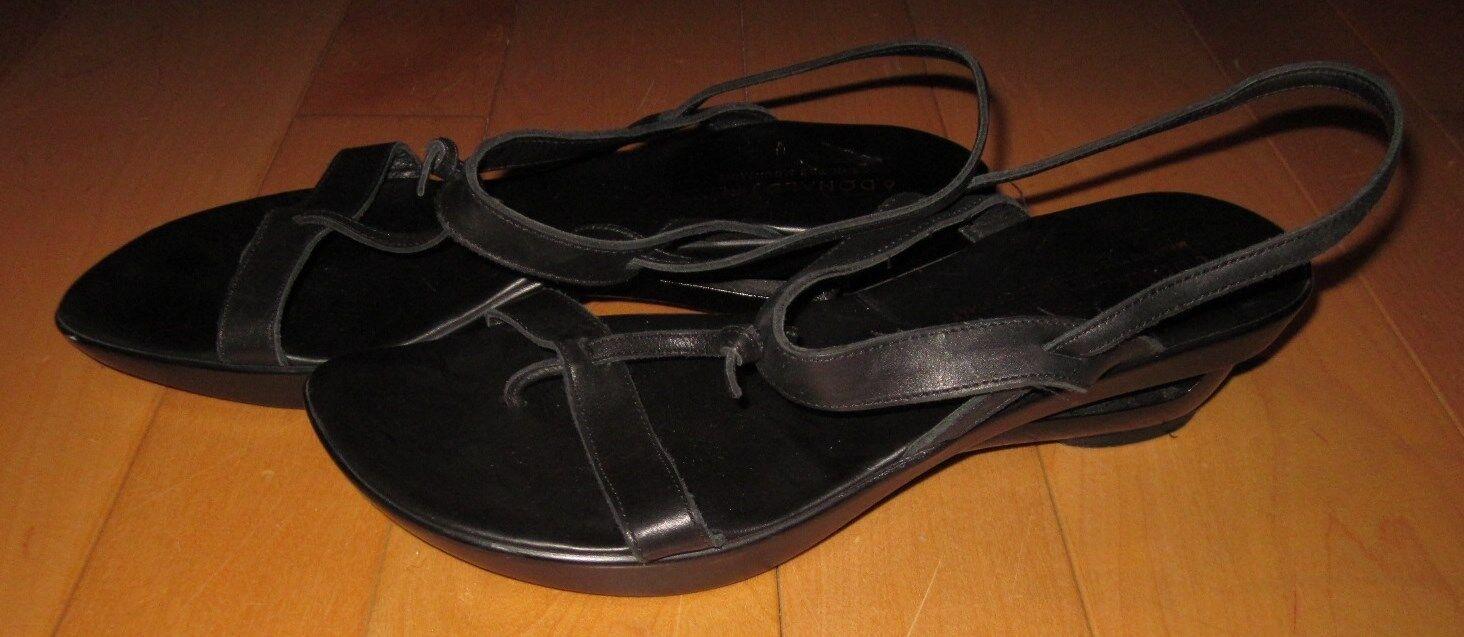 Donald J Pliner Bk Bk Pliner Pelle Strappy Wedge Thong Sandals Cisso 10 Made Italy f63442