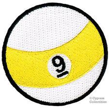 9-BALL EMBROIDERED IRON-ON PATCH POOL BILLIARDS NINE souvenir emblem
