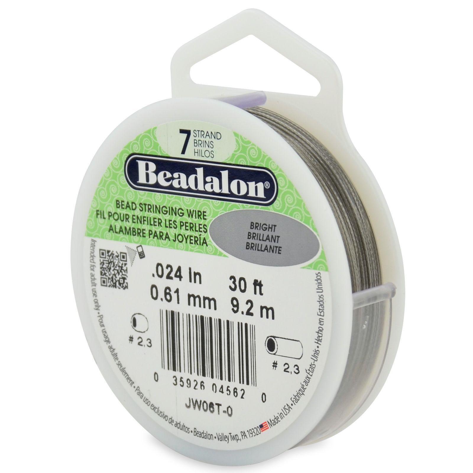 Beadalon JW03T-1 100-Feet 7-Strand Stainless Steel Bead Stringing Wire 0.018-Inch Bright