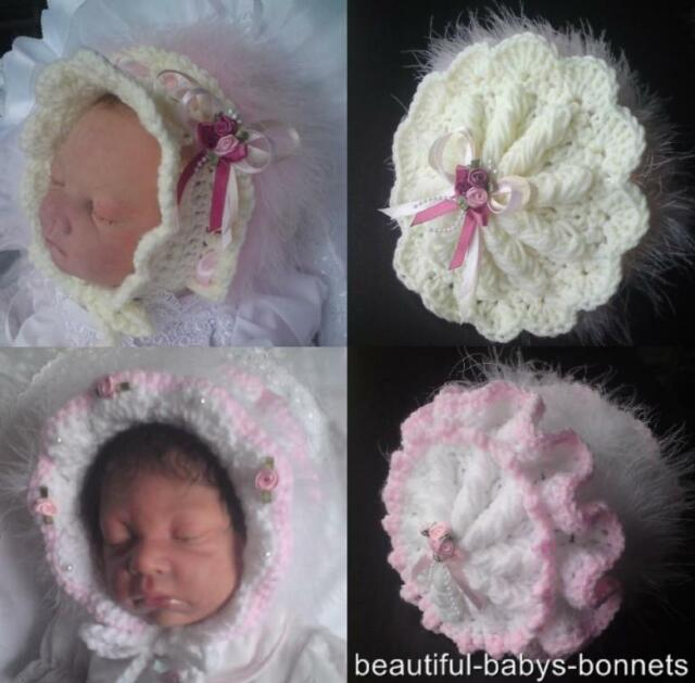 CROCHET PATTERN by Beautiful-Babys-Bonnets for 2 Vintage Style Hats 0-3-6m  #16