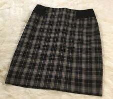 The Limited Womens Size 0 Skirt Plaid Black White W1