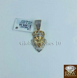 10k Gelbgold 1.25 Zoll / Anhänger Mit Diamanten, Engel Ein Unbestimmt Neues Erscheinungsbild GewäHrleisten