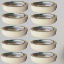 10 Rolls 60 Ft General Purpose Masking Tape 1 Inch Adhesive Ivory White Lot