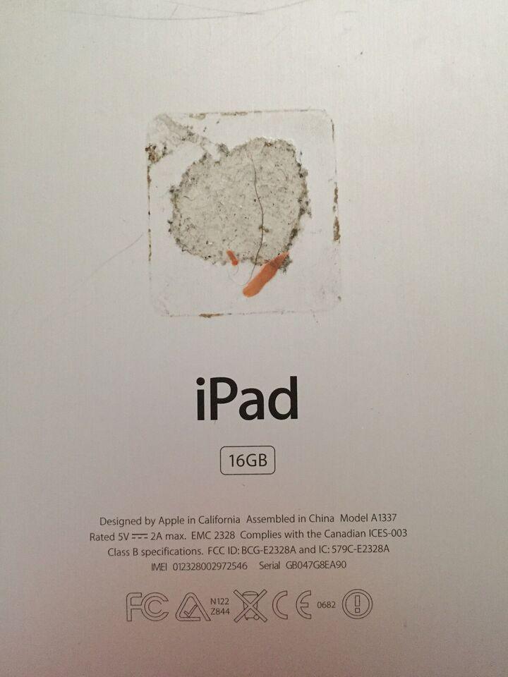 iPad, 16 GB, sort