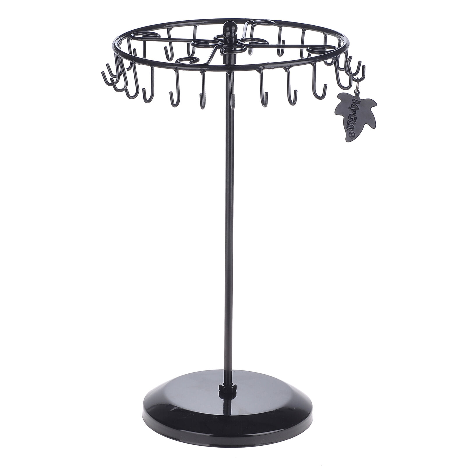Vintage Earrings Tree Display Stand with 8 Tier Revolving Branches for Studs Necklaces Rings Bracelets Black OROPY Rotating Jewelry Tower Organizer