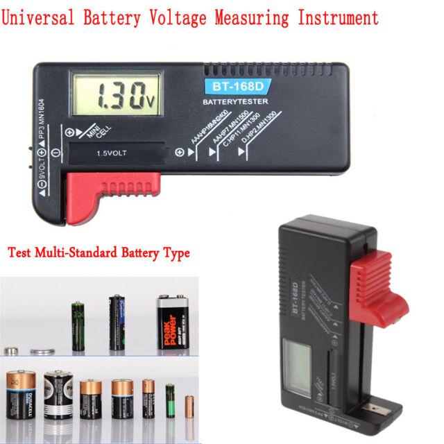 BT168 Digital Battery Capacity Tester LCD for 9V 1.5V AA AAA Cell C D Batteries