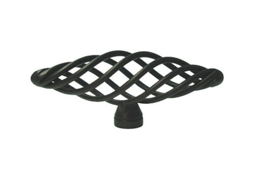 "Matte Black Kitchen Bathroom Cabinet Birdcage 3/"" Knobs Pulls 76mm"