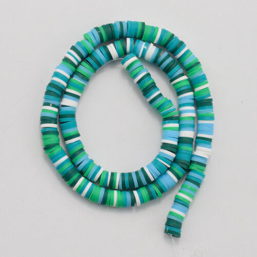 """12.75/"""" Handmade Polymer Clay Beads Disc Heishi Beads Loose Spacer Crafting"""