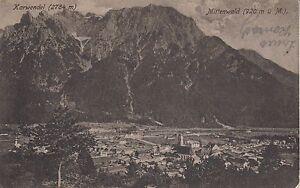 Postkarte-Mittenwald-gegen-Karwendel