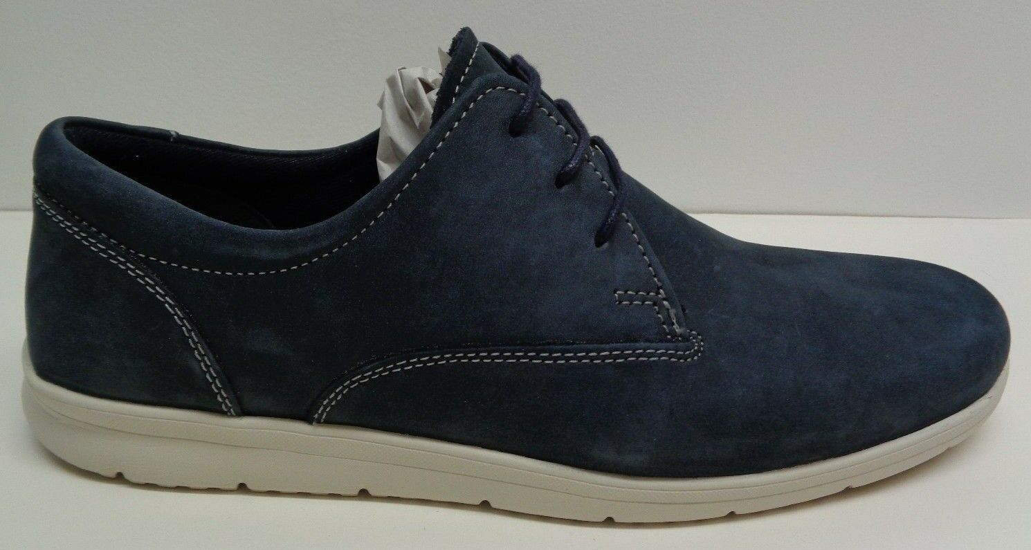 Steve Madden Size 10 M CLAY Navy bluee Leather Lace Up Oxfords New Mens shoes