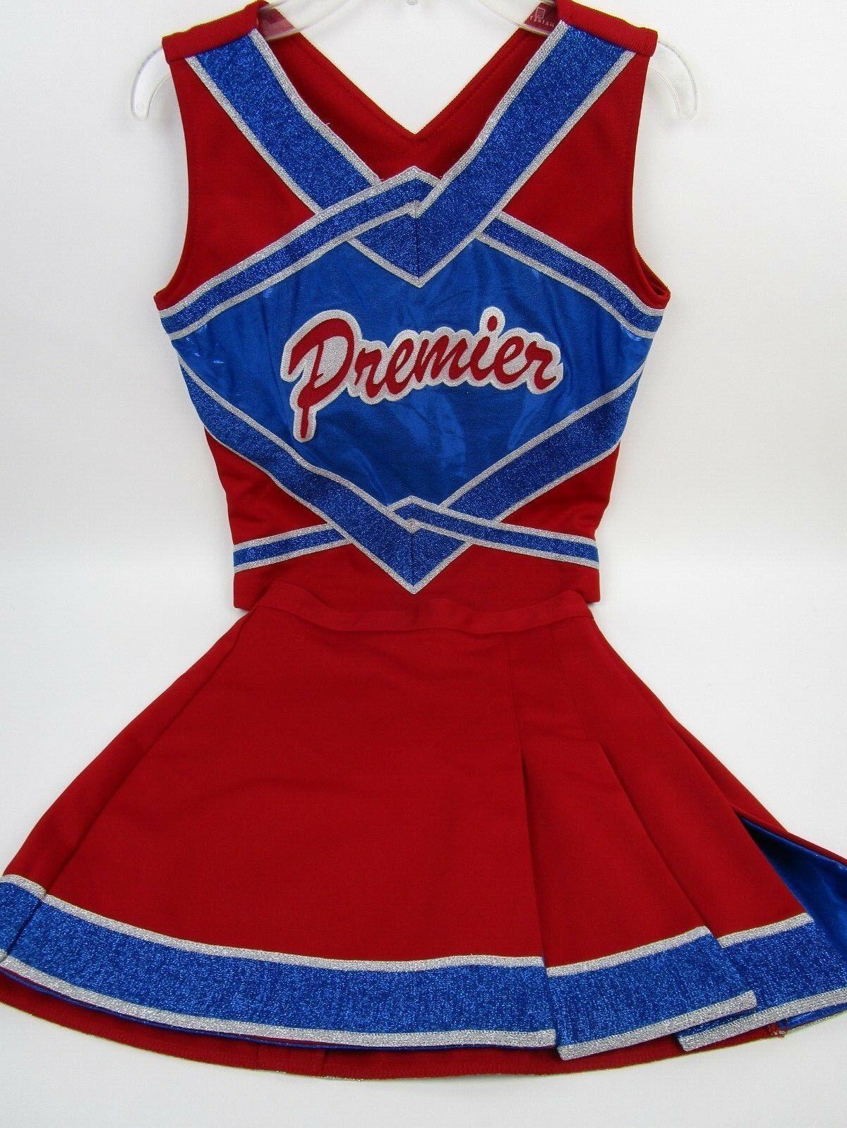 NEW PREMIER Cheerleader Uniform Outfit Costume 34  Top 25 Waist Metallic Sparkle