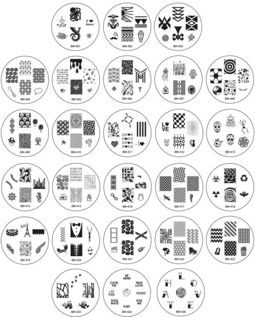 Bundle Monster 26pc Nail Art Image Manicure Stamping Plates- CYO 1 Collection