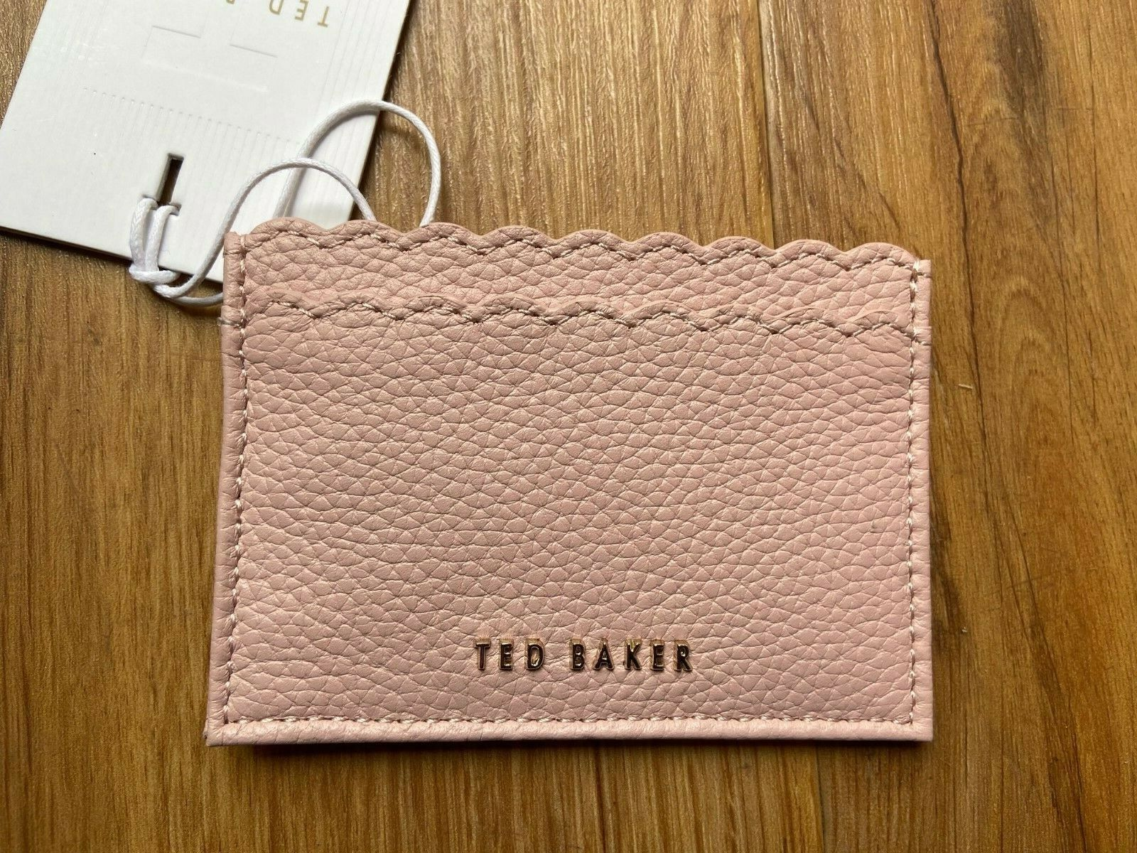 BNWT Ted Baker Vivaah Leather Scalloped Card Holder Case Pink