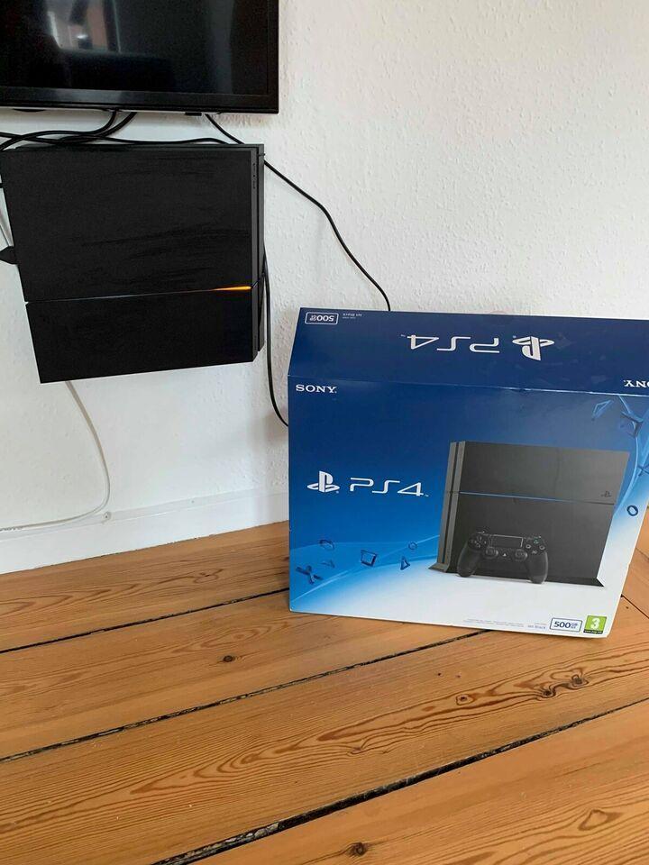 Playstation 4, Jet Black 500GB, Perfekt
