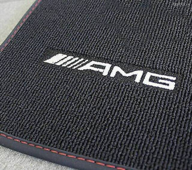 Mercedes Benz AMG Original Floor Mats C 117 Cla Class Coupe Black/Red New Boxed