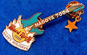 Nagoya-Japon-Noel-Hiver-Guitare-Fin-Thro-Glace-Dore-Star-Hard-Rock-Cafe-Broche