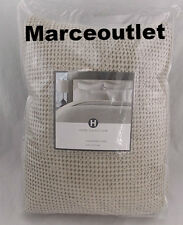 Hotel Collection Waffle Weave 100% Cotton FULL / QUEEN Duvet & Shams Set Natural