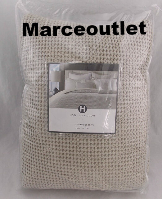 Hotel Collection Waffle Weave 100% Cotton KING Duvet Natural