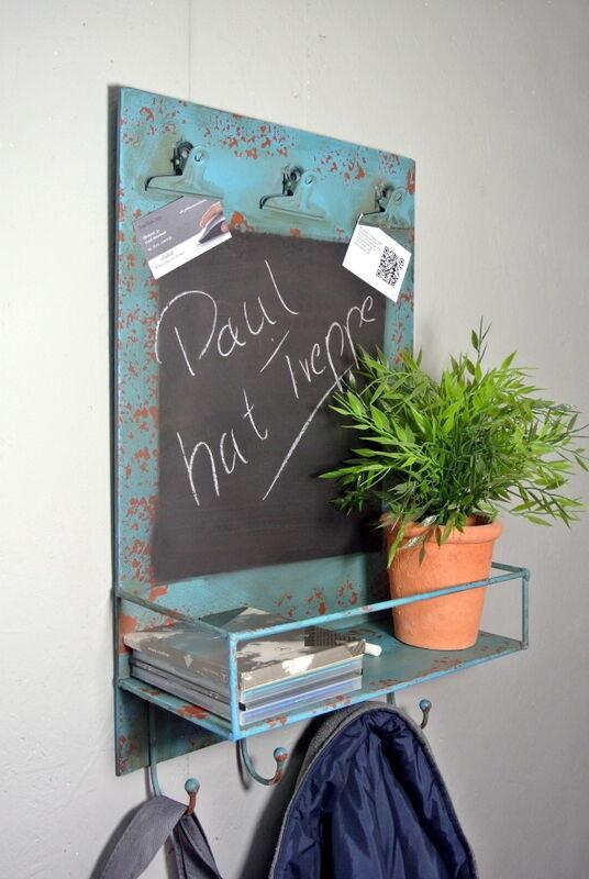 Garderobe Garderobe Garderobe   Wandgarderobe mit Ablage   Wandtafel aus Metall   Aufbewahrung | Stabile Qualität  809f1d