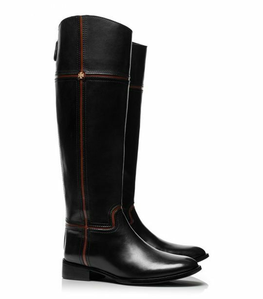 Tory Burch Black Juliet Riding Boots sz 5 new