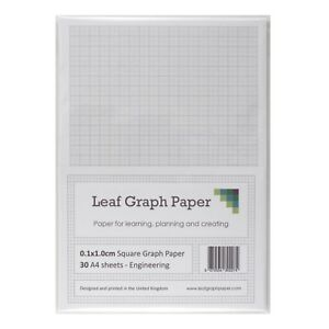a4 graph paper 1mm 0 1cm squared engineering 30 sheet packs 1 4