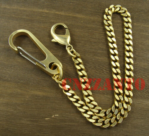 Solid Brass Lobster clasps Snap hook Fob key chain ring holder wallet clip H160
