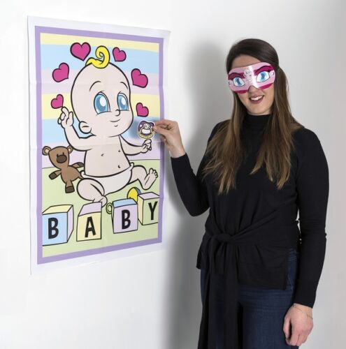PIN THE DUMMY ON THE BABY Shower Party Game Girl  4-40 PLAYERS PGSR