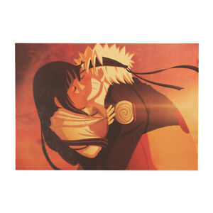Anime Naruto Poster Hinata Nostalgic Vintage Wall Art Kraft Paper Print Posters Ebay