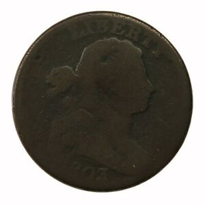 Raw 1803 Draped Bust 1C Uncertified Early Circ US Mint Copper Large Cent Coin