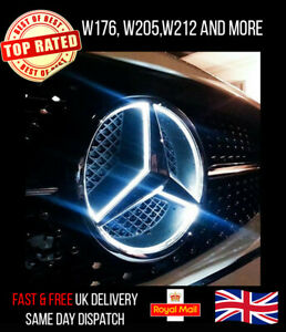 FOR-MERCEDES-BENZ-FRONT-GRILLE-CHROME-STAR-LED-BADGE-FITS-A-B-E-ML-CLS-R-GLK