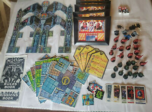 Mutant Chronicles Board Game Original PARTS figures books cards dice game board