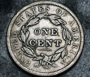 1838 Large Cent Coronet Head 1C High Grade Detail Sharp US Copper Coin CC5338