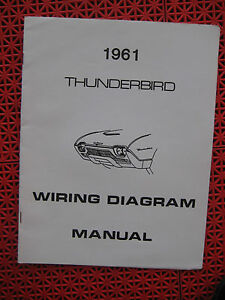 1961 Ford Thunderbird Wiring Diagram | eBay