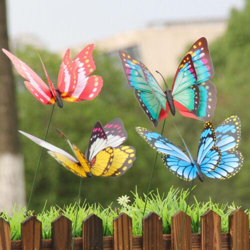 15pcs Artificial Butterfly Garden Décorations Simulation enjeux Yard Plant TS