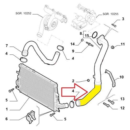 Ladeluftkhler ALFA ROMEO 159 1.9 JTDM INTERCOOLER PIPE TURBO HOSE ...