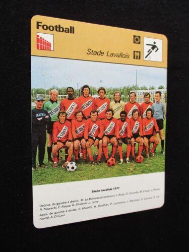 SPORTSCASTER FICHE CHAMPION FOOTBALL  EQUIPE LAVAL STADE LAVALLOIS  1977-1978