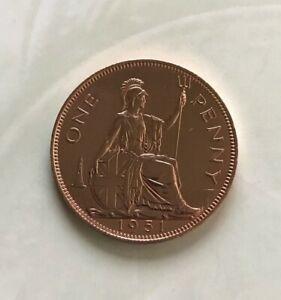1951 GEORGE VI PROOF PENNY Bronze • 9.45 g • ⌀ 30.8 mm KM# 869, Sp# 4117