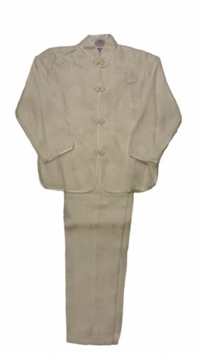Girls Satin Pyjama Set Full Long Sleeved Trousers Blue Cream Pink Gold Lilac New