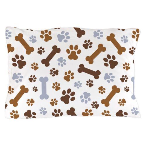"CafePress Dog Paw Prints Pattern Standard Size Pillow Case 1344078693 20/""x30/"""