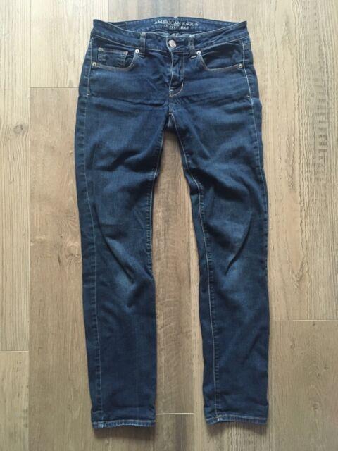 """Women's American Eagle Skinny Jeans Size W28"""" L32"""" Dark Blue"""
