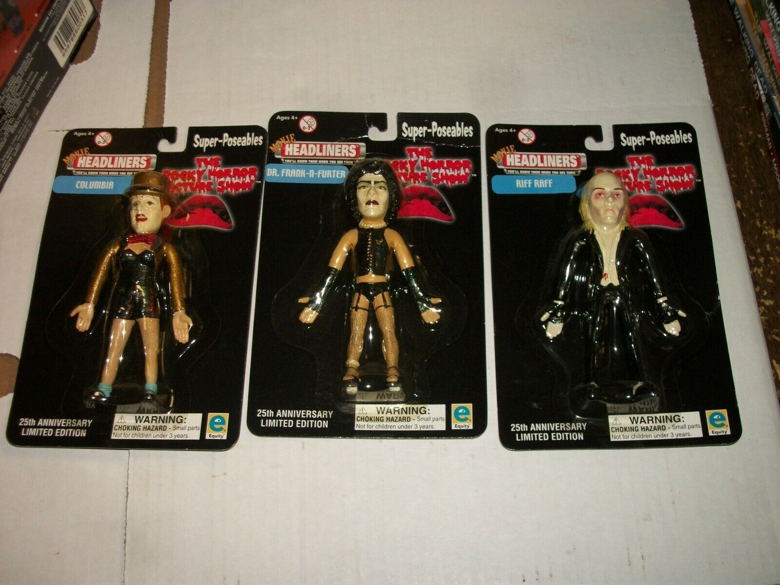 Movie Headliners ROCKY HORROR PICTURE mostrare SuperPoseables cifra Set of 3 nuovo