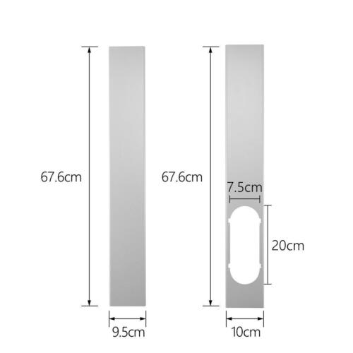 2pcs Window Slide Kit Plate//Window Adaptor//15CM Exhaust Hose For Air Conditioner