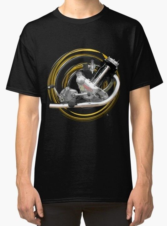 PANTHER Modello 120 Sloper MOTOCICLETTA TRIUMPH Tiger T-shirt 3 inished Productions