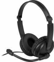 Aluratek Wired USB Stereo Headset with Boom Mic
