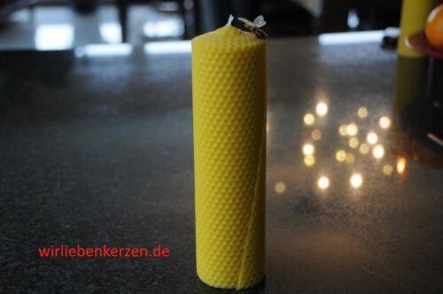 1 x Bienenwachskerze XXL 100 /% Bienenwachs Kerzen 210 x 56mm Handarbeit aus D