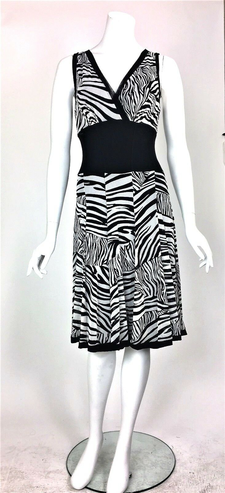 Elana Kattan Empire Lined Mesh Sleeveless Credver Fit & Flare  Dress Sz Sm